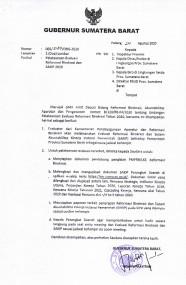 Jadwal Pelaksanaan evaluasi SAKIP dan RB tahun 2020 Oleh KEMENPAN & RB, Selasa/1 September 2020 Pukul : 08:00 Wib secara Virtual
